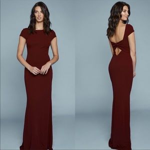 Katie May Madison Dress in Bordeaux